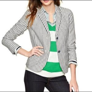 NWT GAP Made With Linen Striped Blazer Size 8 Tall
